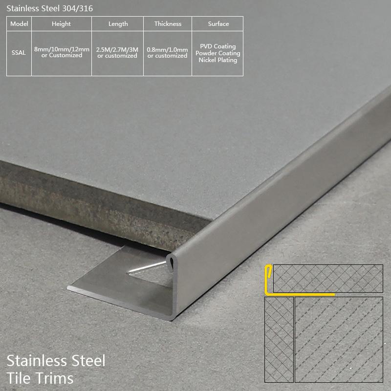 Stainless Steel Tile Edge Trim SSAL
