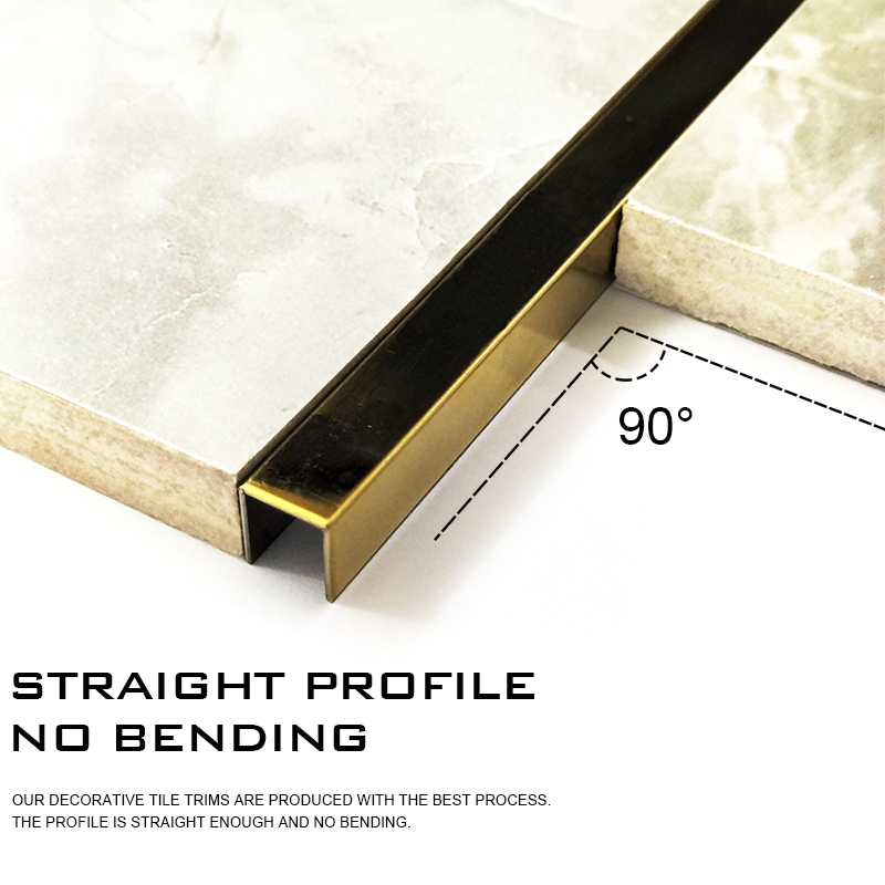 Round Shape Ceramic Tile Decorative Trim Aluminium Profile CR