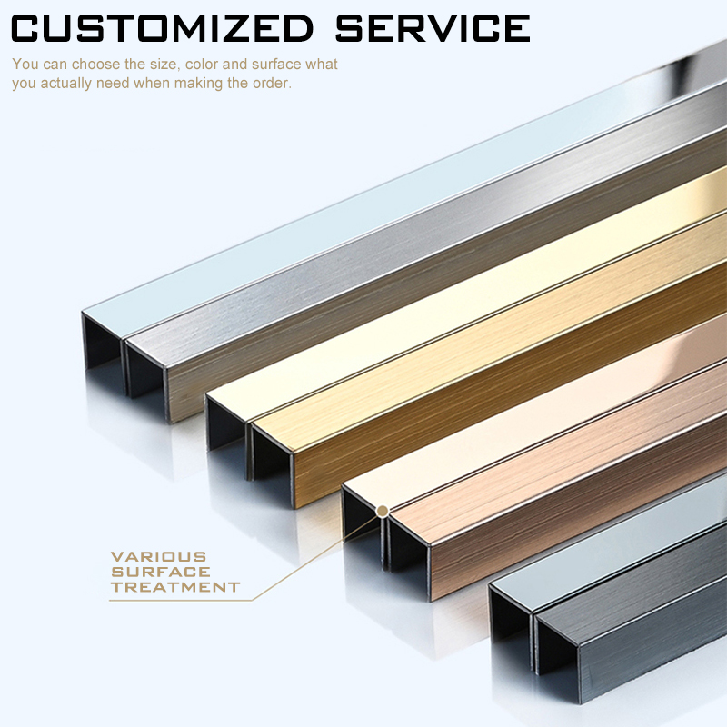 New Design Interior Decoration Stainless Steel Tile Trim SSAG8