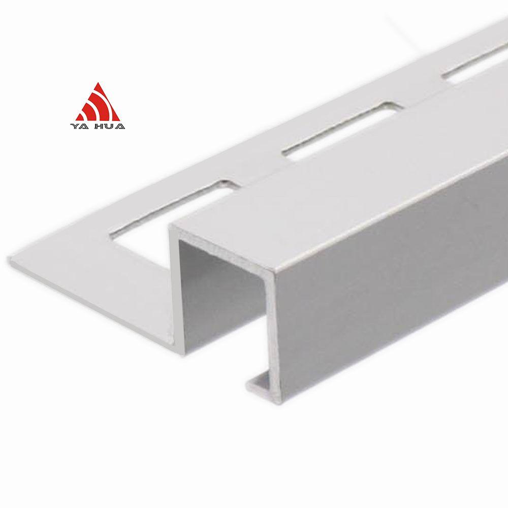 Aluminum Silver Color Polish Square Tile Trim With Competitive Price