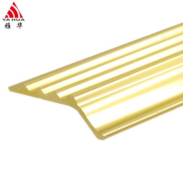 Elegant Looking Golden Tile Floor Transition