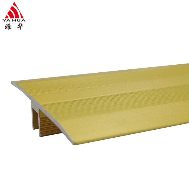 Aluminium tile to wood floor transition