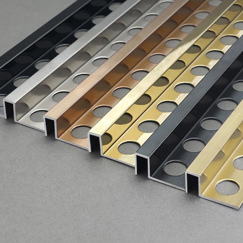 Stainless Steel Square Shape Interior Ceramic Tile Decoration Trim SSAS