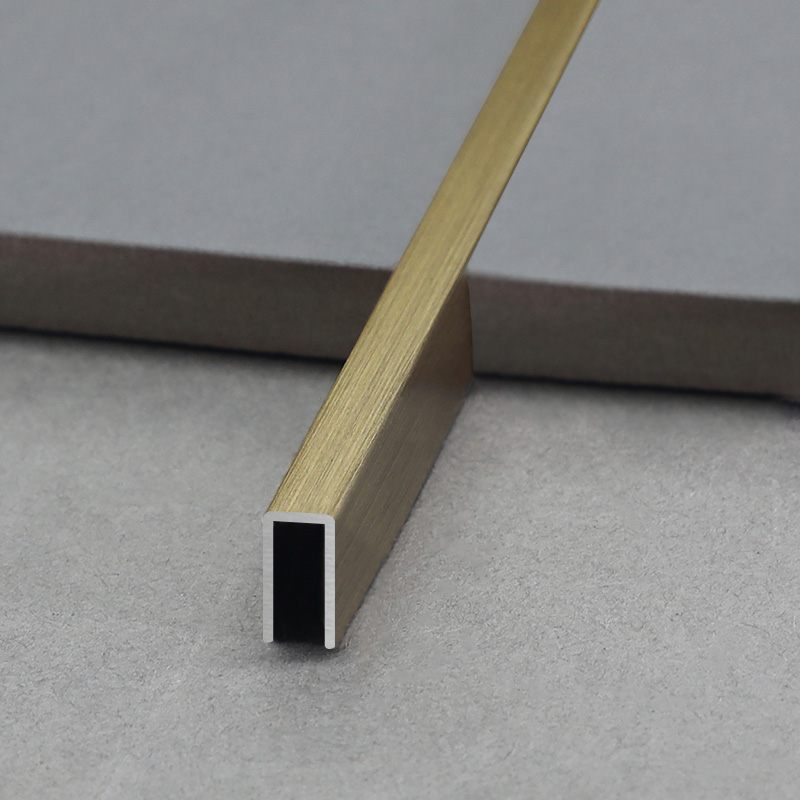 Stainless Steel U Shape Wall And Floor Decorative Strip Tile Trim SSUS