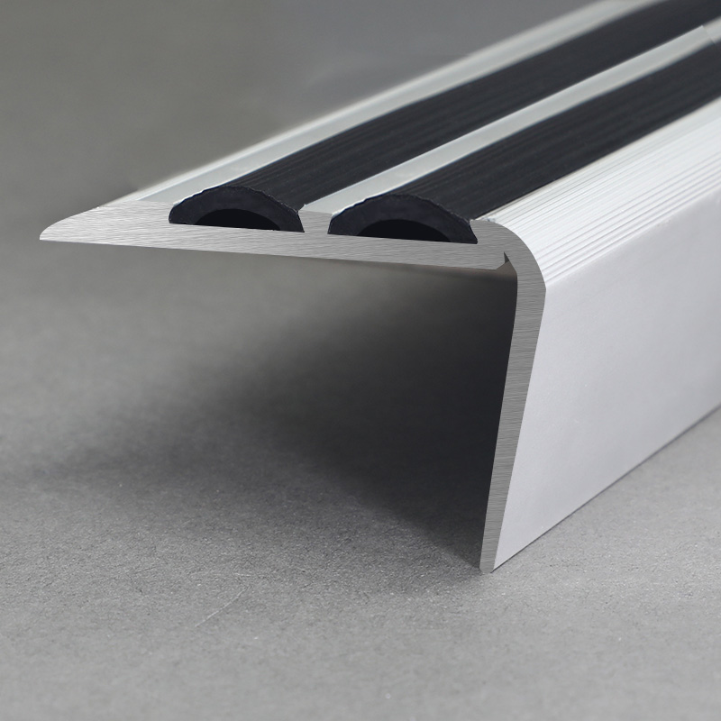Aluminium Matt Silver Curved Stair Nosing FSD2