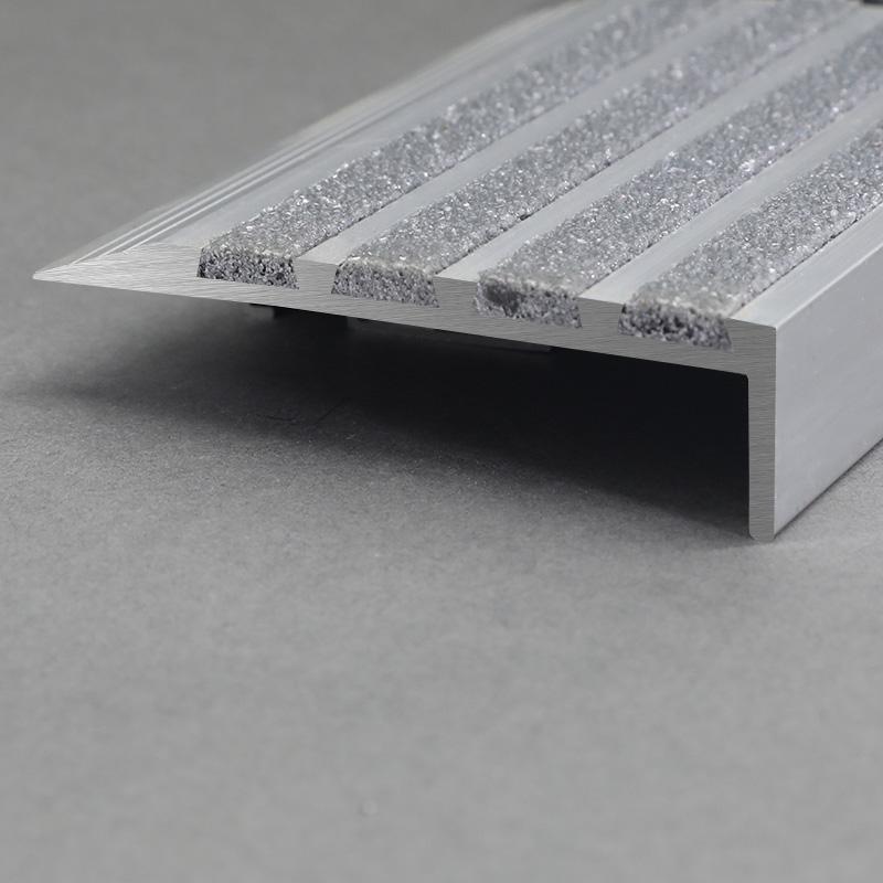 Aluminium Matt Silver Commercial Stair Nosing FSW6