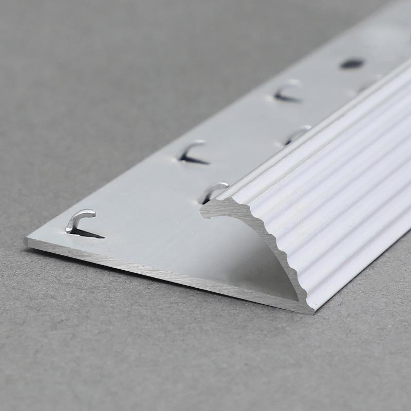 Aluminium Champagne Tile To Carpet Transition MCT4