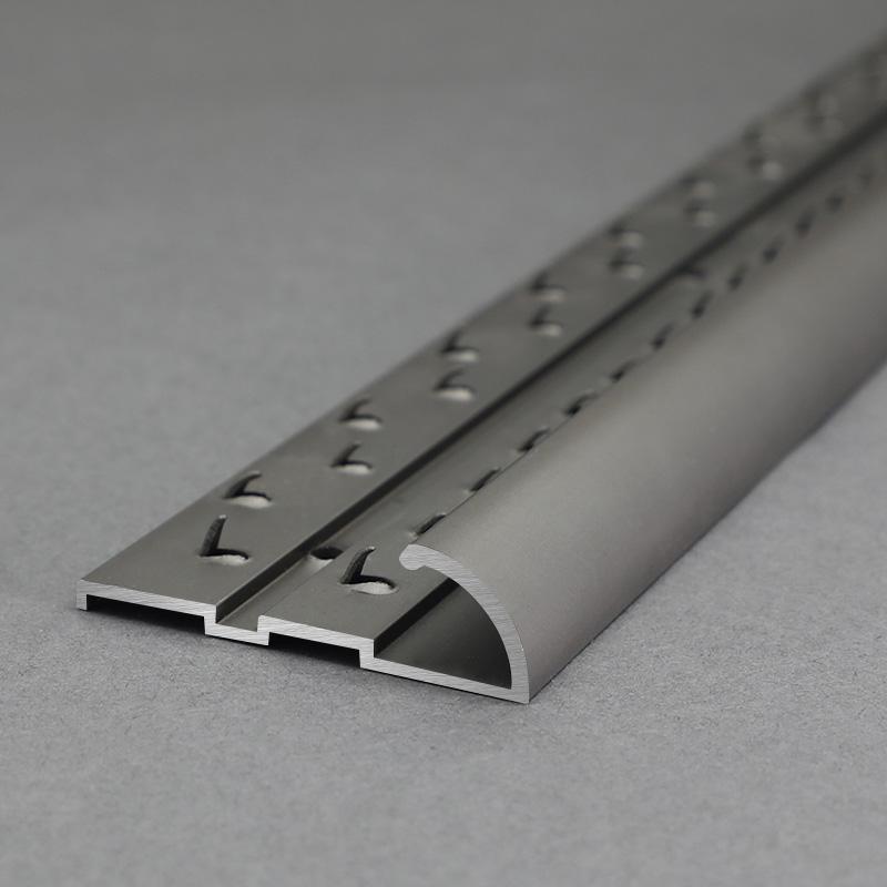 Aluminium Titanium Carpet To Tile Transition Strip MCT5